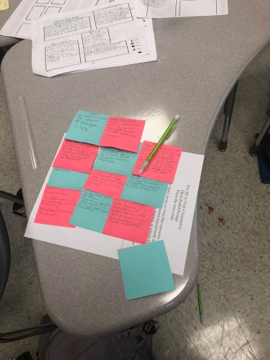 Color: This student used color coding and matched quotes to commentary.