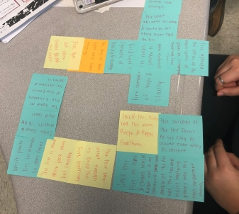 "Space: This student created ""Tetris Blocks"" and organized her essay by connecting supporting ideas geometrically."